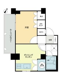 ライオンズマンション西新宿第5の間取図