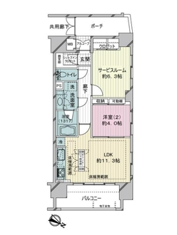 ミオカステーロ横濱アルティスタの間取図