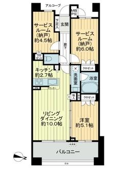 クオス横浜鴨居レジデンシャルステージの間取図