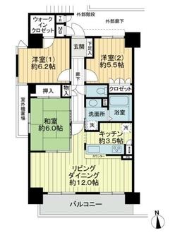 サーパス豊中本町駅前の間取図