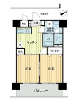 ファーストクラス横濱の間取図