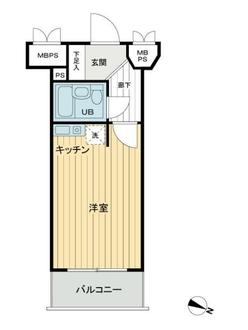 ライオンズマンション川崎貝塚第2の間取図