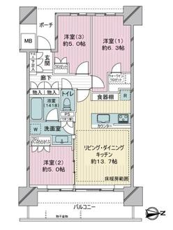 シティタワー金町タワー棟の間取図