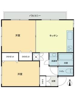 東中野第2マンションの間取図