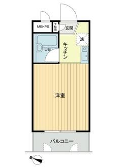 モナーク二俣川リバーサイドマンションの間取図