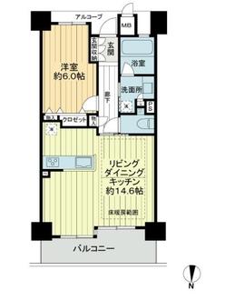 プレサンスロジェ太秦天神川駅前の間取図