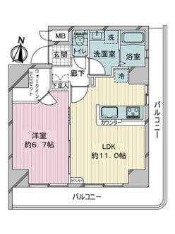 NICハイム錦糸町の間取図