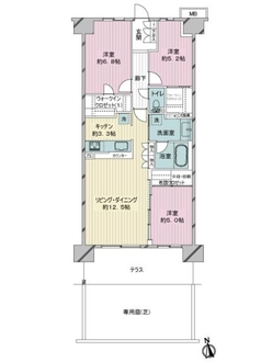 ファインシティ横浜江ヶ崎ルネの間取図