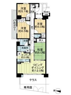 ガーデン横浜鴨居の間取図