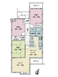 コスモ豊島園の間取図