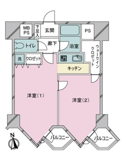 東京ベイビュウの間取図
