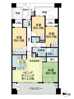 グランアルト武蔵新城の間取図