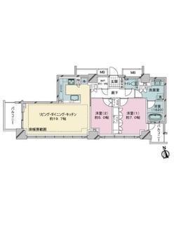 ライオンズタワー目黒川の間取図