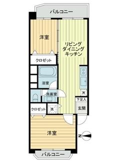 高島平第3ローヤルコーポB棟の間取図