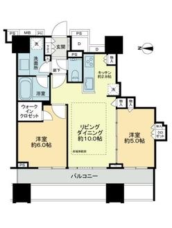 シティタワー名古屋久屋大通公園の間取図