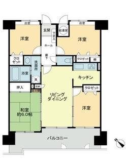 グリーンマンション南福岡の間取図