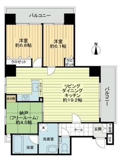 プリオーレ24堀川紫明の間取図