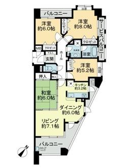 アーサー笹原ステーションの間取図