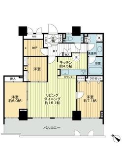 ガーデンヒルズ三河安城ザ・タワーの間取図
