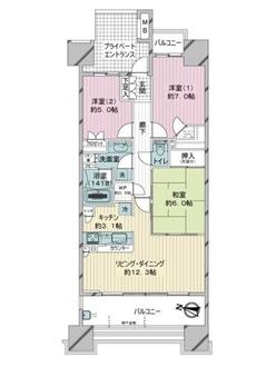 東京メガシティコンフォートタワーの間取図