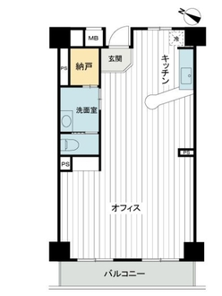 津田沼十番街ビルの間取図