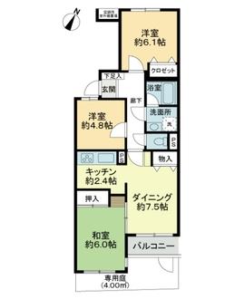 ライオンズマンション与野本町第3の間取図