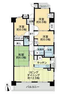 宝マンション名古屋駅南の間取図