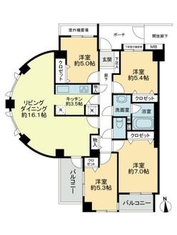 ファミールガーデン横浜・小机弐番館の間取図