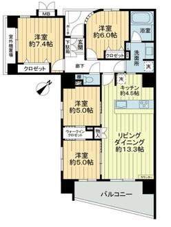 ライフレビュー横濱関内スクエア2の間取図