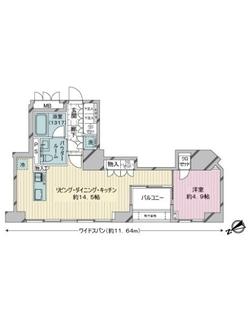 ベルドゥムール東京八丁堀の間取図