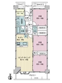 アルファステージ横浜鶴見の間取図