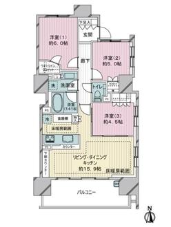 ザ・グランアルト錦糸町の間取図
