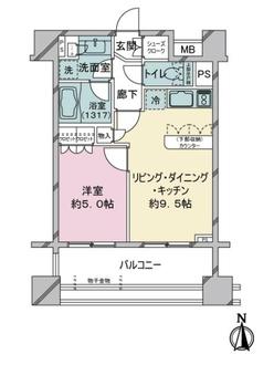 プライア渋谷の間取図