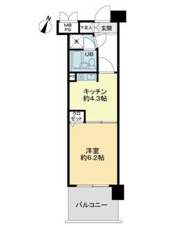 ライオンズマンション与野本町第六の間取図