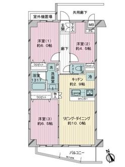 リッシュレジデンス川崎の間取図