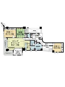 ライオンズマンション祇園小松町の間取図