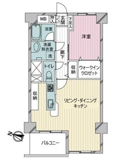 シーアイマンション駒場A棟の間取図