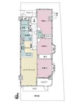 ライオンズマンション石神井台の間取図