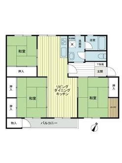 高陽ニュータウン第一分譲住宅C棟の間取図