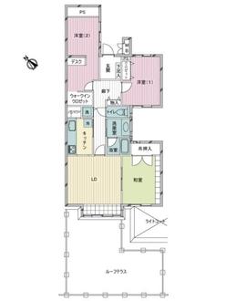 ガーデンテラス白根台壱四号棟の間取図