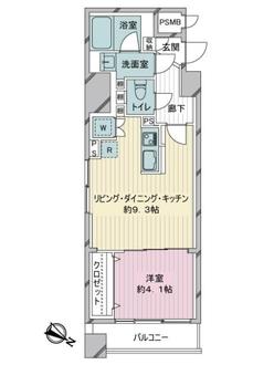 ワコー東日本橋マンションの間取図
