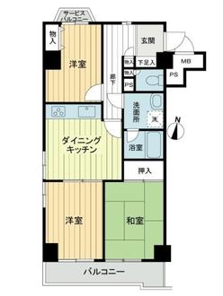 ライオンズマンション羽沢町の間取図