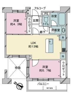 ライフレビュー川崎ステーションフロントの間取図