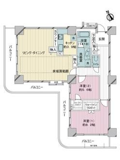 ライオンズステーションタワー松戸の間取図