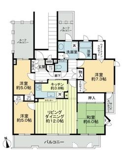 覚王山パ-クハウス壱番館の間取図