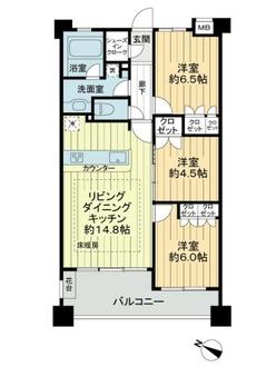 グランシティ武蔵小杉2の間取図