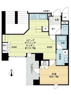 プレミスト京都六角通堂之前町の間取図