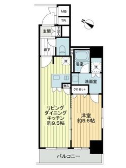 プレール・ドゥーク東京EAST3の間取図