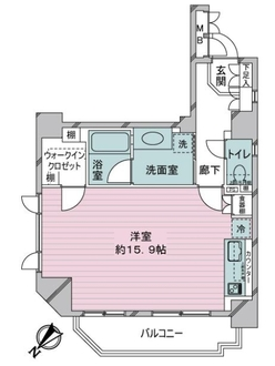 デ・リード日本橋箱崎の間取図