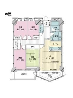 エルザタワー55の間取図